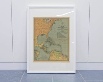 Map Of Central America Old Map Of The West Indies South America And Portions Of