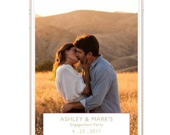 Engagement Snapchat Filter, Engagement Party, Engagement Filter, Custom Snapchat Filter, Snapchat Geofilter, Floral, Elegant, Engaged