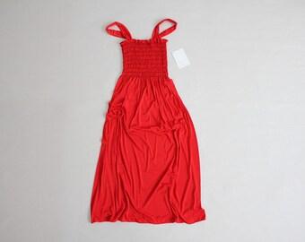 70s red dress | smock dress | red sundress