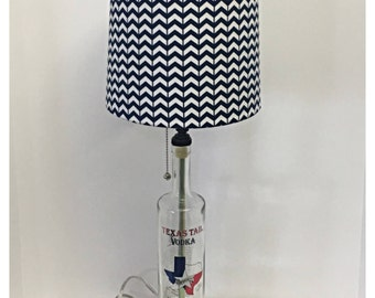 Recycled Texas Tail Vodka Bottle Lamp
