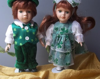Porcelain Irish Dolls Collector's Choice Saint Patrick's Day Ireland