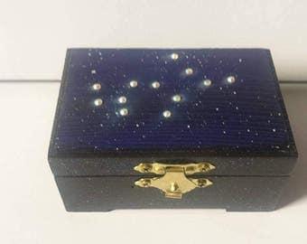 Virgo Jewelry Box Zodiac Jewelry Box Zodiac Keepsake Box Virgo Constellation Art Virgo Zodiac Sign Virgo Zodiac Art Virgo Keepsake Box