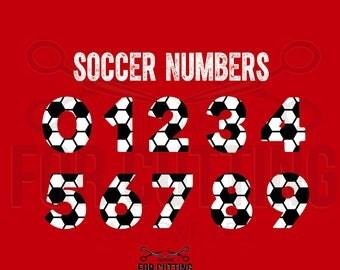 SOCCER numbers, soccer monogram font, sport font svg, soccer font, Studio3, svg, dxf, eps. Digital Files, Instant Download. 0626