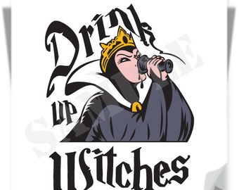 SALE! Drink Up Witches / Instant Download / Clipart graphic files/ Cutting File Svg, Eps, Dxf, Png, JPG for Cricut, Silhouette, Witch Design