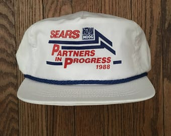 Vintage 80s Sears Snapback Hat Baseball Cap * Made In USA