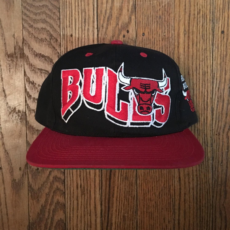 711c83ffafc Vintage 90s Chicago Bulls NBA Snapback Hat Baseball Cap ...