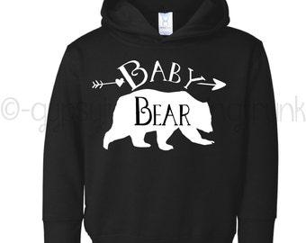 Baby Bear Shirt - Baby Bear Hoodie - Bear Shirt - Bear Family Apparel - Baby Bear - Woodland Family Outfits - Bear Family Kids Top