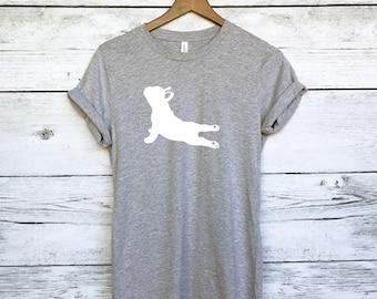 French Bulldog Yoga Pose T-Shirt - Yoga Tank - Yoga Shirt - Fitness - Namaste In Bed