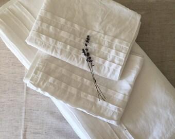 White pillow cover, white pillowcase dress, white linen, natural linen pillowcase, white pillow sham, natural linen pillowcase dress