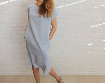 Linen dress for women, CHOOSE COLOR, linen dress, linen tunic, womens linen clothing, linen tunic dress, loose linen tunic, tunic linen