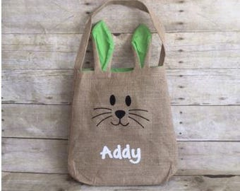 Personalized Easter Bunny Bag with Ears
