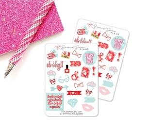 Love Always Planner Stickers, Decorative Planner Stickers, Valentine's Day Stickers - Erin Condren Stickers // Personal Planner Stickers