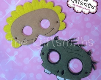 Sunflower vs Zombie Masks / Pretend Play / Party Favor / Halloween Costume / Cosplay / Photo booth / Masquerade