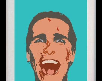 American Psycho Patrick Bateman (Limited Edition of 100) - A3 Poster Art Print Christian Bale Illustration Wall Decor Wall Art Gift Rare