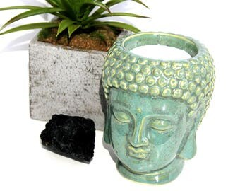 Ceramic Buddha Meditation Candle Holder, Feng Shui Home Decor, Spirituality, Meditation Soy Candle, Birthday Gift For Mother, House Welcome
