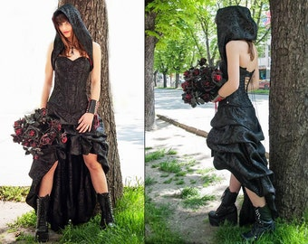 Steampunk dress/Victorian dress/Bustle Steam punk prom dress/Gothic dress/Victorian fashion/Bustle dress/Bustle skirt