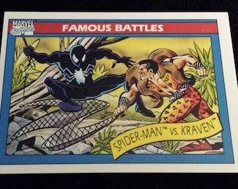 Spider-Man vs Kraven #92 - 1990 Marvel Universe Series 1 Base Trading Card