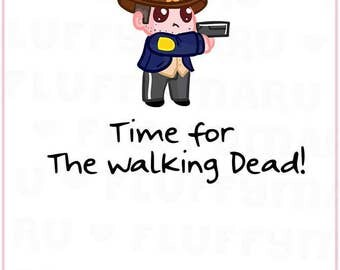 The Walking Dead TV Series Reminder Sampler || Planner Stickers, Cute Stickers for Erin Condren (ECLP), Filofax, Kikki K, Etc. || SS05