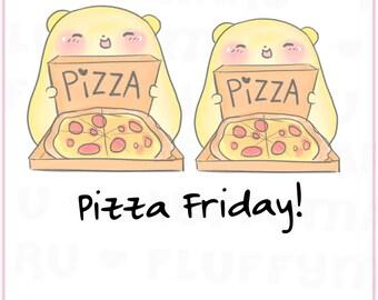 Pizza Lover Sprinkles || Planner Stickers, Cute Stickers for Erin Condren (ECLP), Filofax, Kikki K, Etc. || STB32