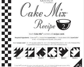 Moda Cake Mix Recipe by Miss Rosie's Quilt Co Design #2