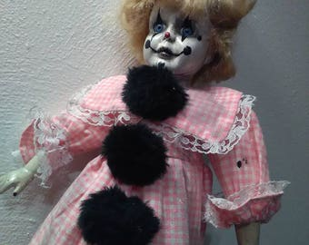 Goth Girl Clown Doll!