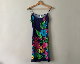 Vintag 1990s Floral Summer Mini Dress