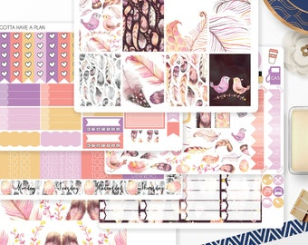 Planner Stickers Light As A Feather Weekly Kit for Erin Condren, Happy Planner, Filofax, Scrapbooking