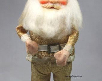 Vintage Gold Lame Santa Claus Doll 1960's Christmas Kitsch
