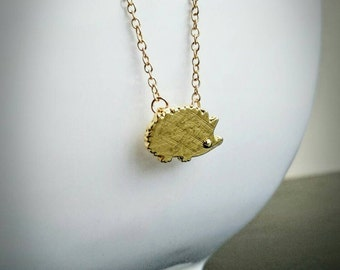 Dainty Hedgehog Necklace Hedgehog Pendant Delicate Necklace Gift For Her Gold Hedgehog Pendant Hedgehog Gift Animal Lover Gift Vegan Gift