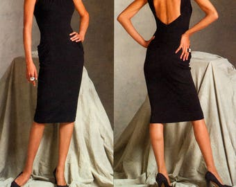 06 Vogue Paris Original 2899 Guy Laroche Close Fitting, Lined Evening Dress with Low Back, Uncut, Factory Folded, Sewing Pattern Size 10-14