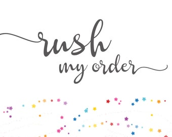 Rush my order - Purchase together with product - Read item description before ordering