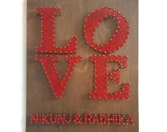 Personalized Valentine Gift - Valentine's Love Sign - Love String Art - Valentines Gift - Personalized Gift for Her - Gift Idea for Him