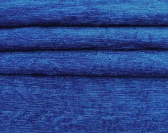 """Upholstery Fabric, Blue Stretch Velvet Fabric, Dress Material, Ethnic Fabric, 56"""" Inch Fabric By The Yard ZVE120I"""