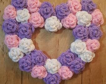 Light Purple Heart Wreath