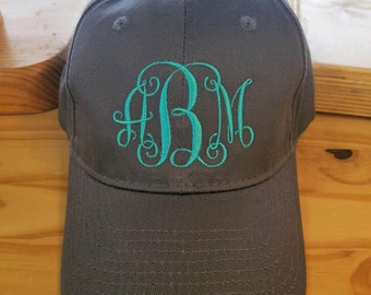 Monogrammed Six-Panel Unstructured Solid Color Twill Cap/Ladies Cap/Monogram/Hat/Baseball Cap