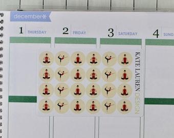 Yoga Icon Planner Stickers for Erin Condren, Yoga Planner Stickers, Yoga Stickers, Meditation Planner Stickers