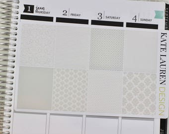 Full Box Spring Lace Planner Stickers For Erin Condren Wedding