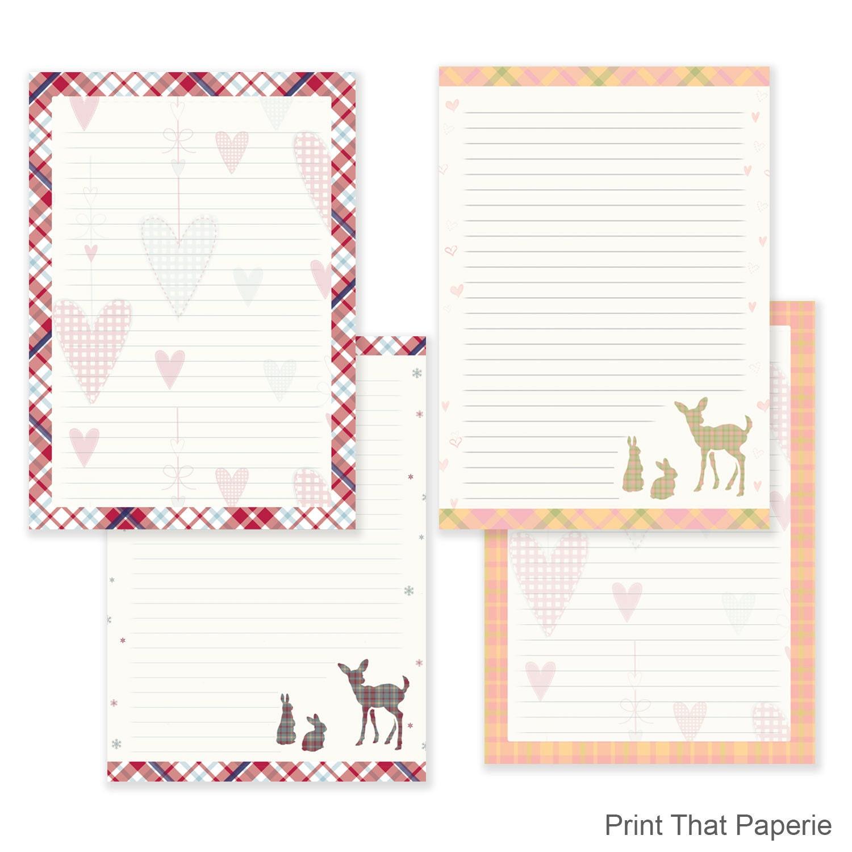 Tartan Writing Paper Stationary Paper Letter Writing Set – Print Writing Paper