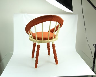 Buttons Up! Young desk chair by Paula Szwedkowicz BURNT ORANGE