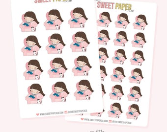 COZY GIRL Planner Stickers - Claire