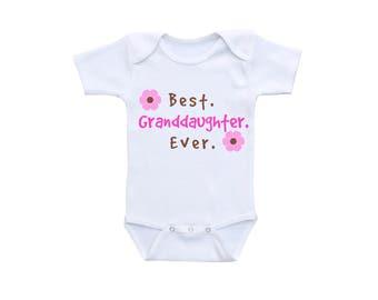Granddaughter Gift or Gerber Onesie® New Grandma to Be Cute Baby Onesies® First Grandchild Grandma Baby Shower Gift Grandkids Grandchildren