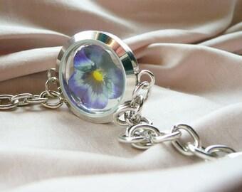 Pansy Flower Bracelet