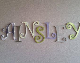 Custom Wooden Letters, Nursery Letters