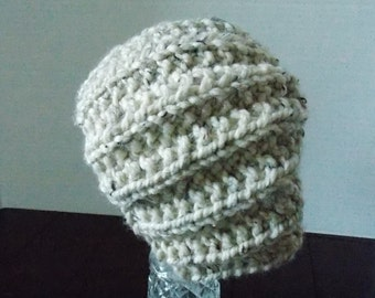 Hand Knitted Unisex Beanie Hat, Unisex Winter Hat, Knitted Skull Cap, Neutral Knitted Hat