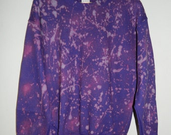 Tie Dye sweatshirt acid wash sweater grunge hipster Retro Galaxy jumper vintage dip dye Indie Galaxy rave festival men women unisex top