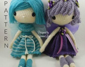"Fairy Kathy 13"" & Fairy Maya 13""-Amigurumi Doll Crochet Pattern"