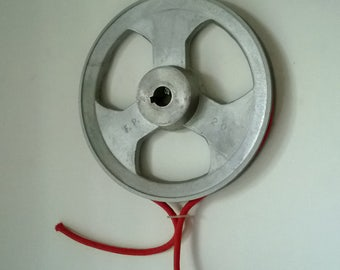 Industrial aluminum pulley 8,3 inch, barn pulley, pulley light, industrial wheel, pulley wheel, pulley, industrial decor, home decor