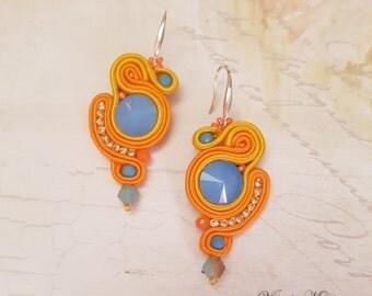 Drop Soutache Earrings - Dangle Earrings - Soutache Earrings - Handmade Earrings