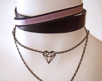 laser cut heart pendant necklace