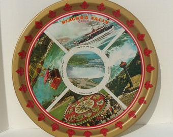Niagara Falls Canada Metal Souvenir Tray